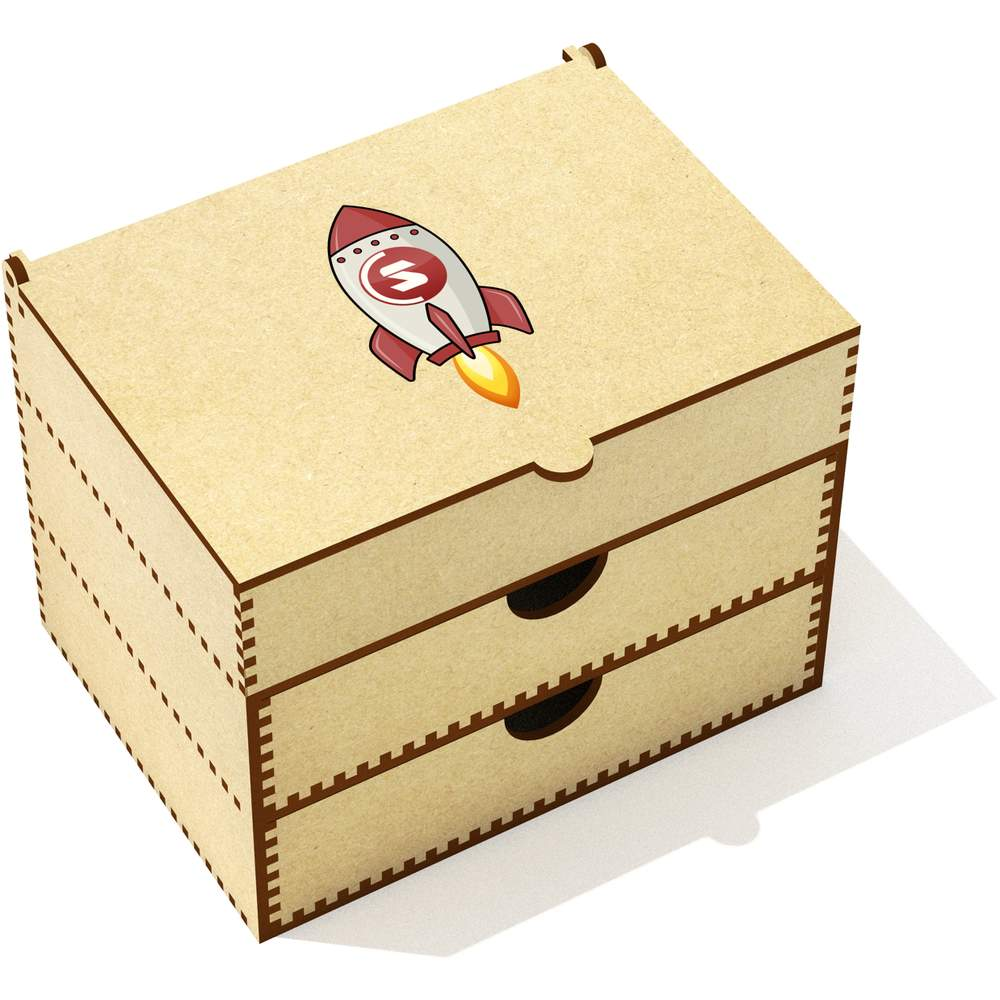 'SuperCoin Rocket' Vanity Case / Makeup Box (VC00000011)