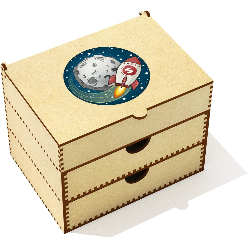 'Supercoin Rocket To The Moon' Vanity Case / Makeup Box (VC00000014)
