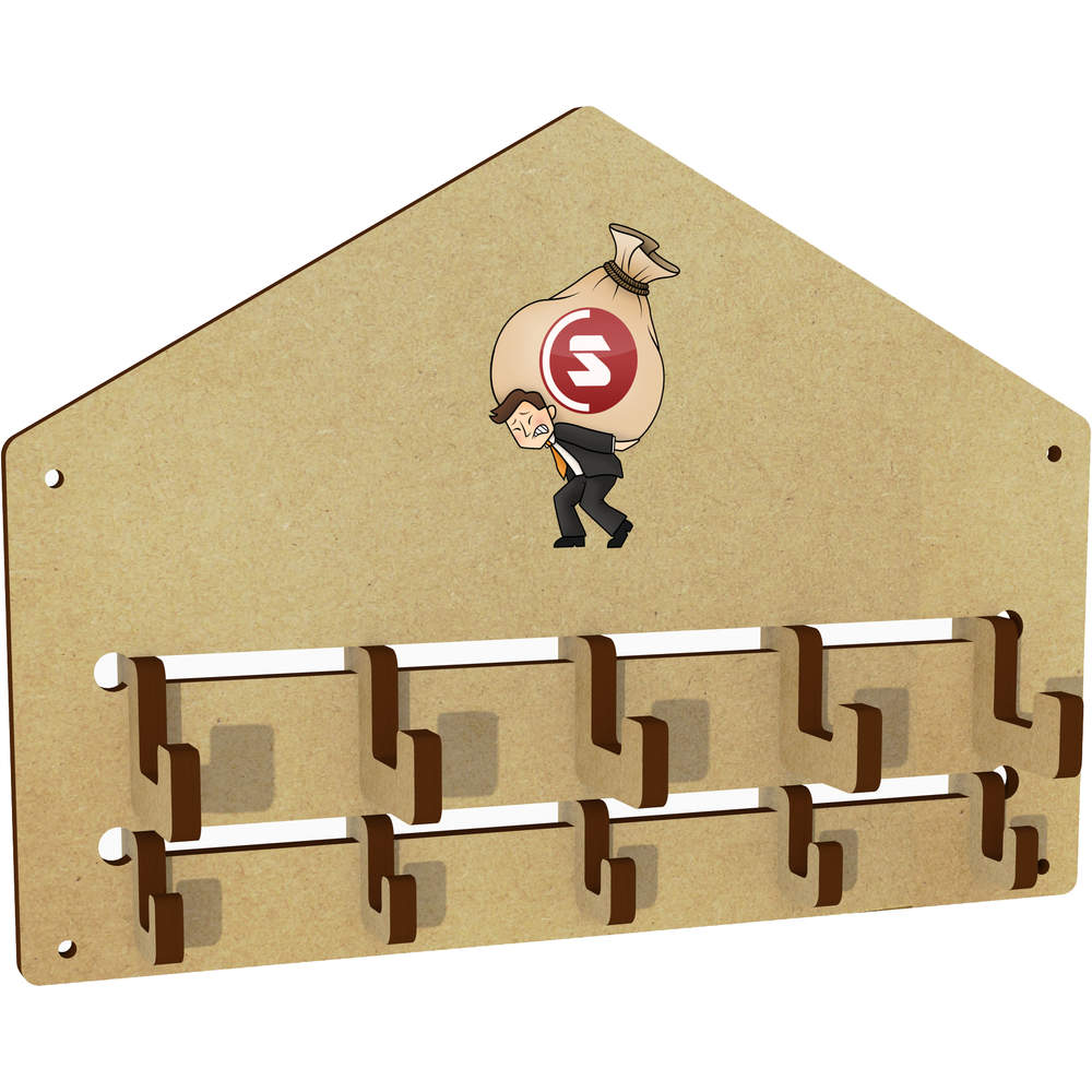 'SuperCoin Heavy Bags' Wall Mounted Coat Hooks / Rack (WH00000014)