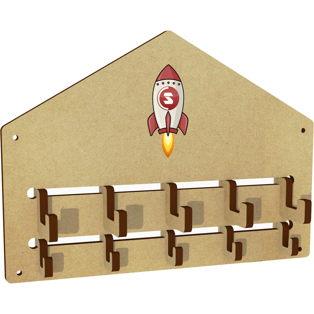 'SuperCoin Rocket' Wall Mounted Coat Hooks / Rack (WH00000022)