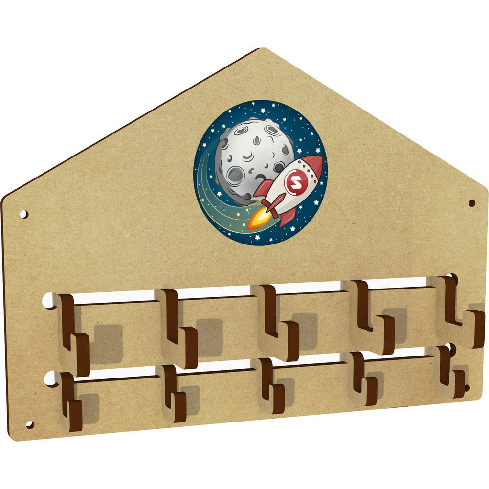 'Supercoin Rocket To The Moon' Wall Mounted Coat Hooks / Rack (WH00000028)
