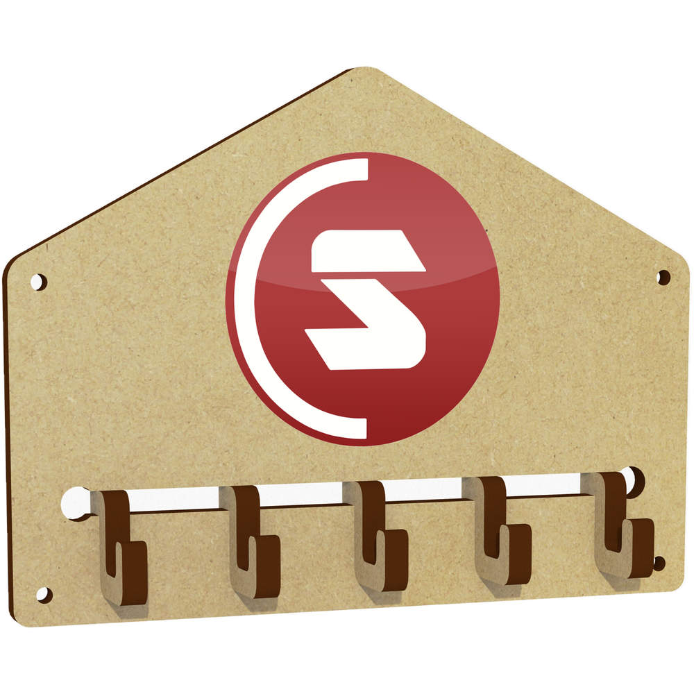 'SuperCoin Logo' Wall Mounted Key Hooks / Holder (WH00000003)