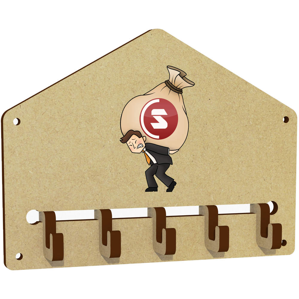 'SuperCoin Heavy Bags' Wall Mounted Key Hooks / Holder (WH00000013)