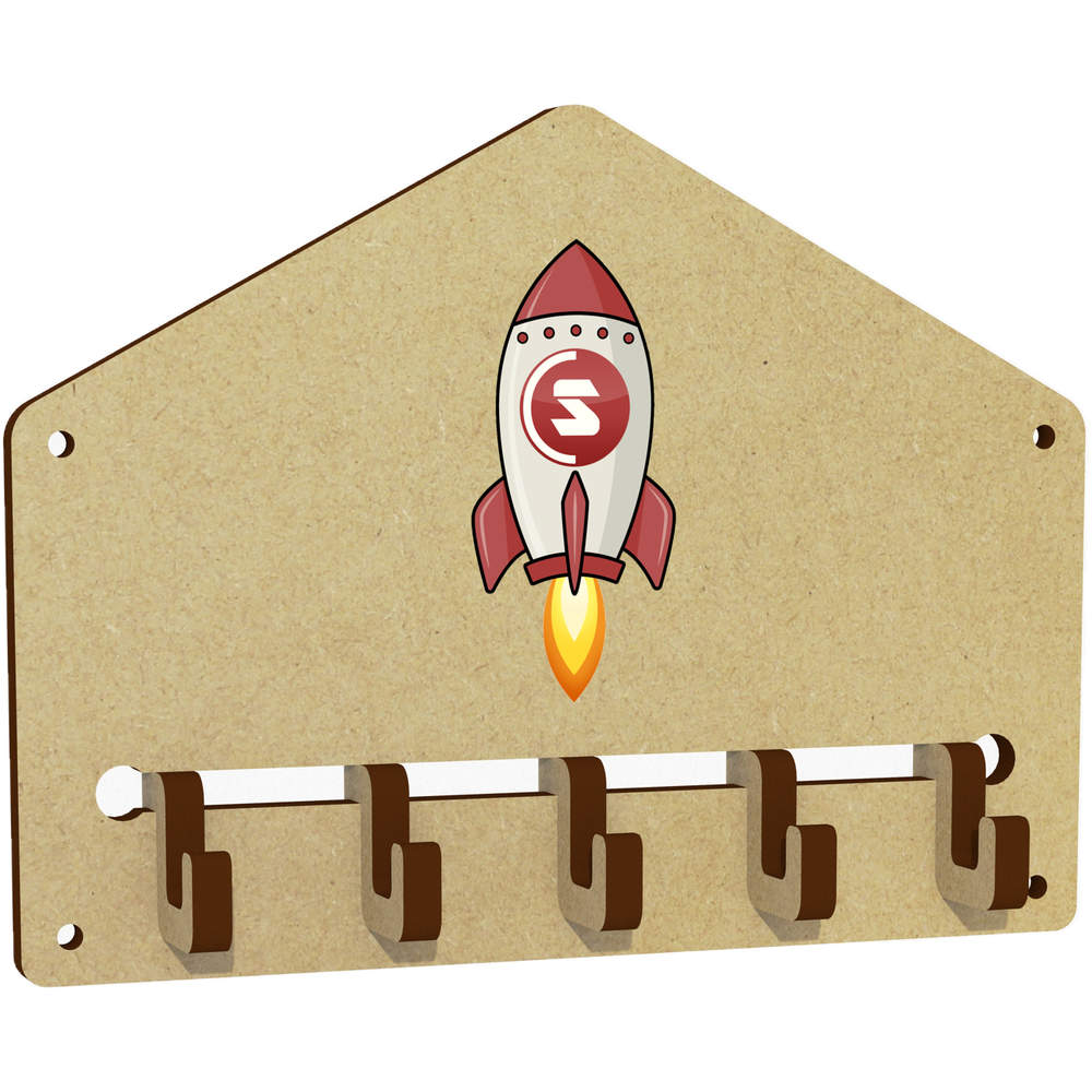 'SuperCoin Rocket' Wall Mounted Key Hooks / Holder (WH00000021)