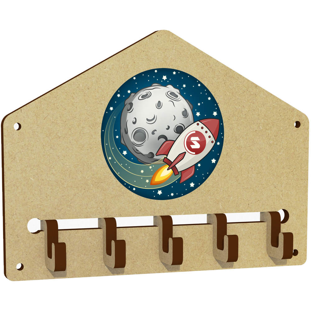 'Supercoin Rocket To The Moon' Wall Mounted Key Hooks / Holder (WH00000027)